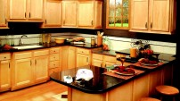LC Stone Black Absolute kitchen countertops